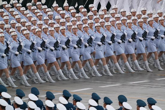 Participants busy preparing for scheduled military parade in Beijing